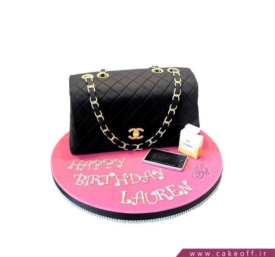 سفارش کیک آنلاین - کیک دخترانه کیف شنل | کیک آف