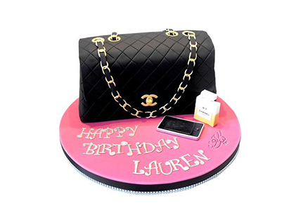 سفارش کیک آنلاین - کیک دخترانه کیف شنل 1 | کیک آف