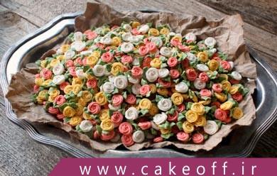 تزئین کیک تولد: کیک تولد خود را با رز پیچان ساده دیزاین کنید