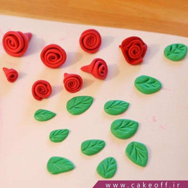 ساخت گل رز با فوندانت