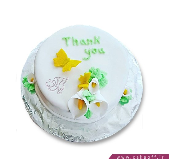 کیک خامه ای گل شیپوری | کیک آف
