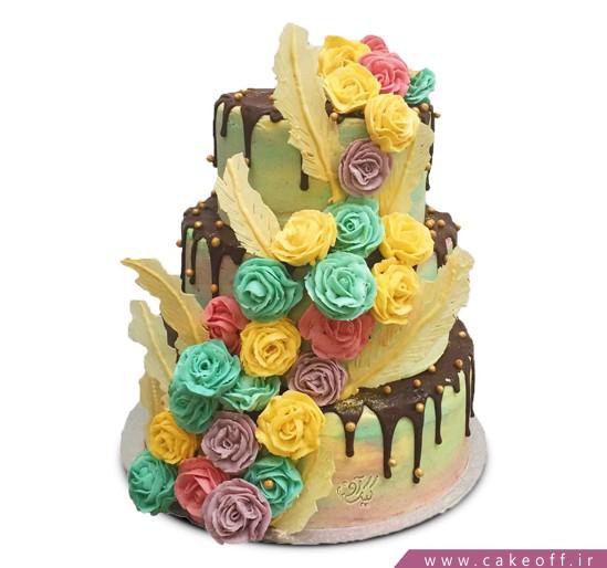 سفارش کیک سالگرد ازدواج در اصفهان - کیک ازدواج نازپر | کیک آف
