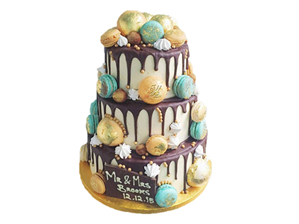 سفارش کیک عروسی - کیک عروسی نازنین | کیک آف
