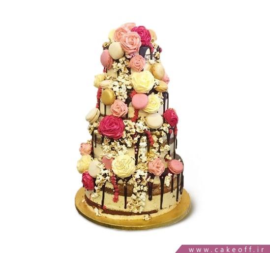 انواع مدل های کیک عروسی - کیک عروسی گل آویز | کیک آف