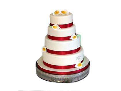 سفارش کیک عقد و عروسی در اصفهان - کیک عقد گلابتون | کیک آف
