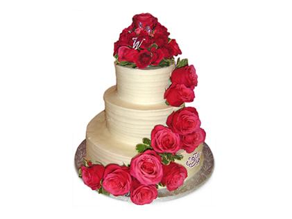 سفارش کیک عروسی در اصفهان - کیک عروسی گلچین | کیک آف