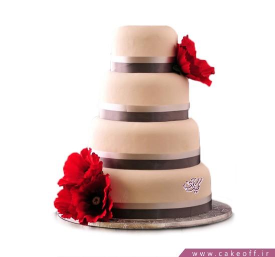 کیک عروسی در اصفهان - کیک عروسی گلفام | کیک آف