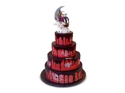 خرید اینترنتی کیک عروسی - کیک عروسی نگارین | کیک آف