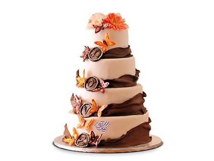 سفارش انواع کیک عروسی - کیک عروسی گلسا | کیک آف