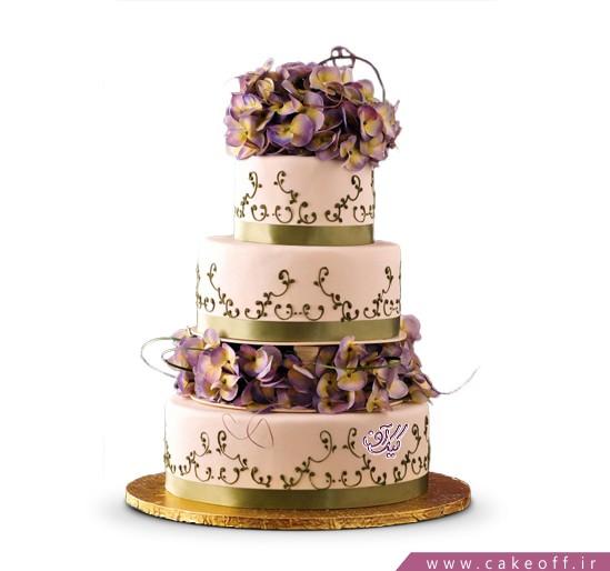 خرید اینترنتی کیک عروسی در اصفهان - کیک عروسی گل نگار | کیک آف