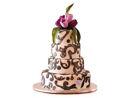خرید بهترین مدل کیک عروسی - کیک عروسی گلشاد | کیک آف