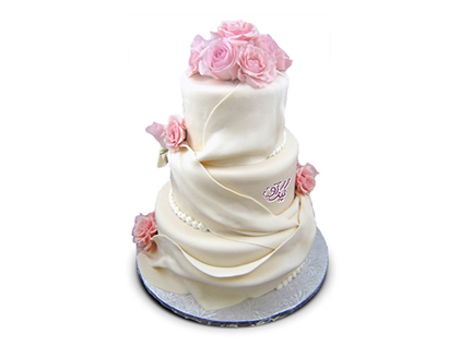 مدل کیک عروسی جدید - کیک عروسی به گل | کیک آف