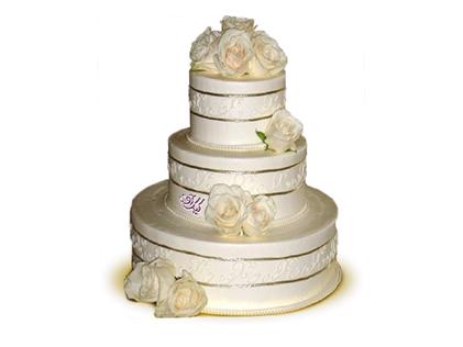 خرید آنلاین کیک نامزدی - کیک عقد و عروسی برج گل | کیک آف