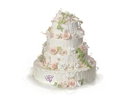 خرید آنلاین کیک عروسی - کیک خامه ای بهار | کیک آف