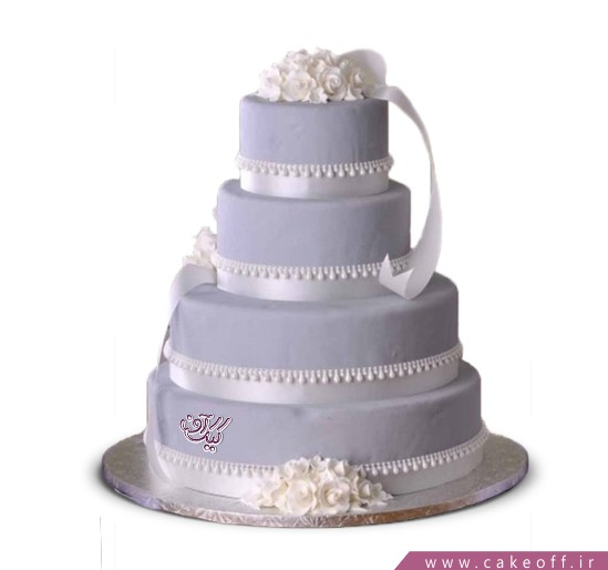 سفارش کیک عروسی - کیک ازدواج سیمین | کیک آف