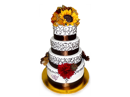 خرید کیک عروسی - کیک عقد تینا | کیک آف