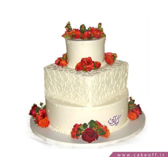 خرید کیک عروسی - کیک ازدواج تیارا | کیک آف