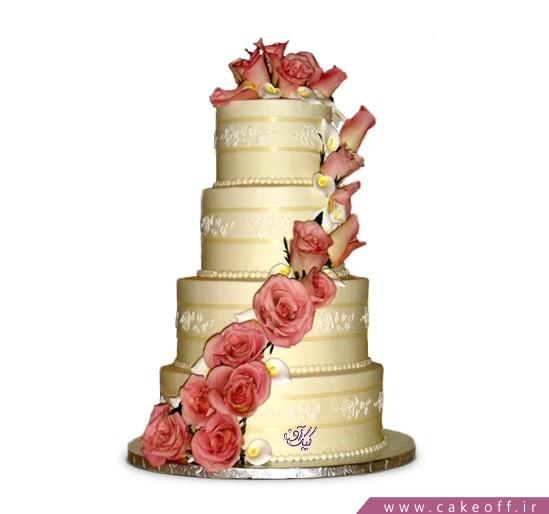 بهترین کیک های عروسی - کیک عروسی گلبو | کیک آف