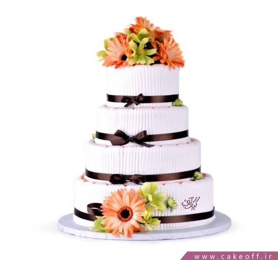 سفارش کیک عروسی - کیک عروسی ناز گل | کیک آف