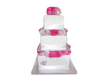 سفارش کیک عروسی - کیک سالگرد ازدواج گل بهاری | کیک آف