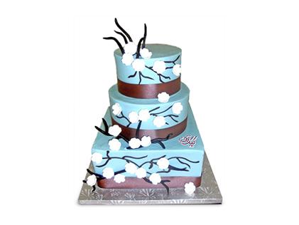 سفارش کیک سالگرد ازدواج - کیک بهار آبی | کیک آف