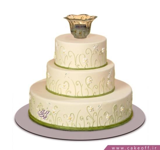 سفارش کیک عروسی - کیک عقد و عروسی لاله | کیک آف