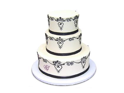 کیک عقد و عروسی - کیک سالگرد ازدواج سوگل | کیک آف