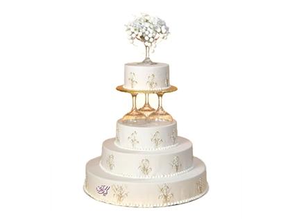 خرید کیک عروسی - کیک طبقاتی پرناز | کیک آف