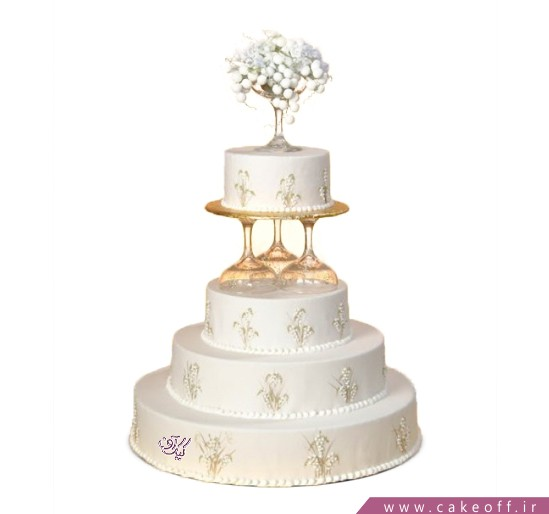 خرید کیک عروسی - کیک عقد و عروسی پرناز | کیک آف