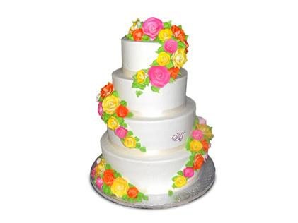سفارش کیک نامزدی - کیک سه طبقهی آوا | کیک آف