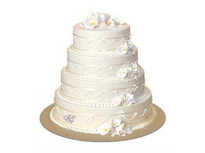 سفارش کیک عروسی در اصفهان - کیک عروسی آنیما | کیک آف