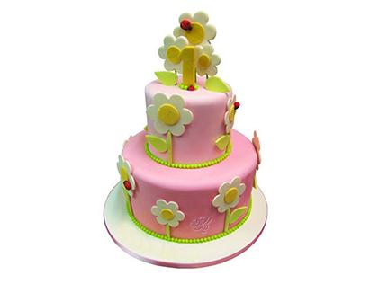 سفارش اینترنتی کیک تولد در اصفهان - کیک تولد قصه گل ها | کیک آف