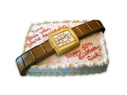 کیک تولد مردانه - کیک تولد ساعت بابا | کیک آف