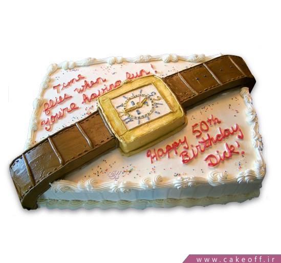 کیک تولد ساعت بابا