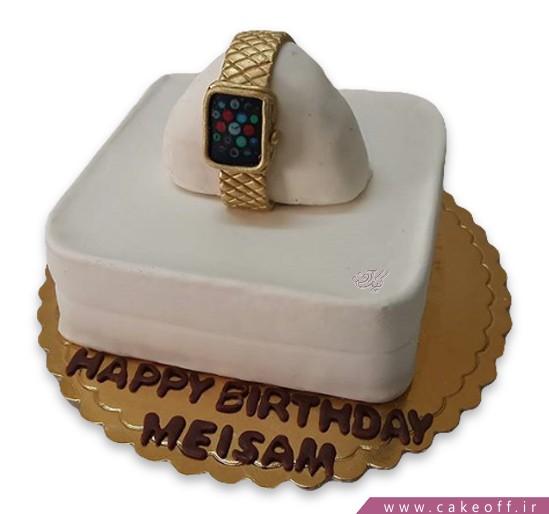 کیک ساعت طلا