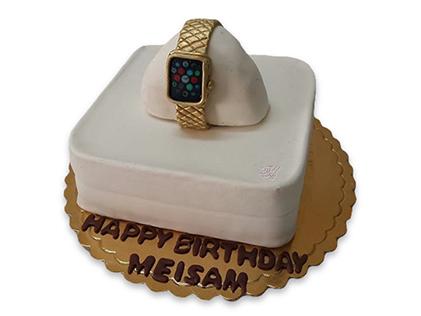 خرید کیک در اصفهان - کیک روز مرد ساعت طلا | کیک آف