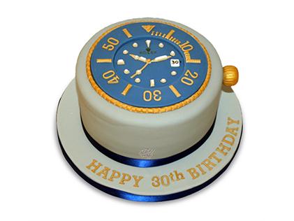 خرید کیک تولد پسرانه - کیک تولد پسرانه ثانیه ها | کیک آف