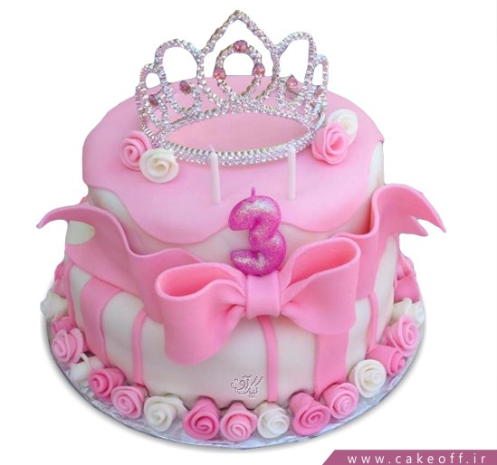 کیک تولد تاج ملکه