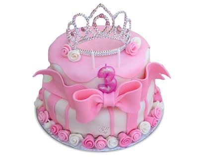 کیک تولد فانتزی - کیک تولد دخترانه تاج ملکه | کیک آف