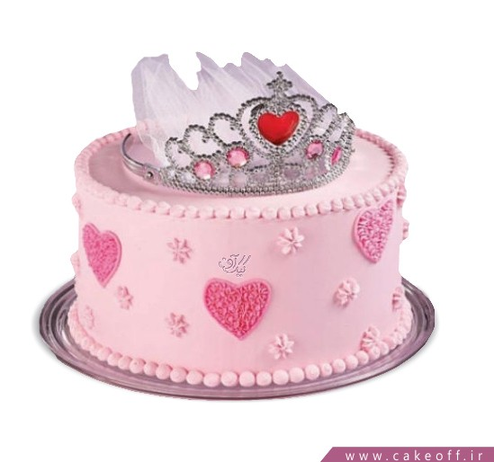 کیک تولد دخترانه جدید - کیک تولد ملکه صورتی | کیک آف