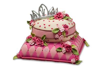 سفارش کیک تولد خاص - کیک تولد دخترانه تاج و گل | کیک آف