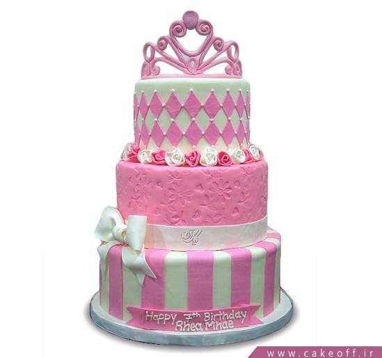 کیک تولد دخترانه تاج و تخت
