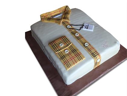 کیک روز مرد - کیک پیراهن مردانه هیرو | کیک آف