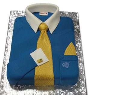 کیک روز پدر - کیک پیراهن مردانه بابای خوبم | کیک آف