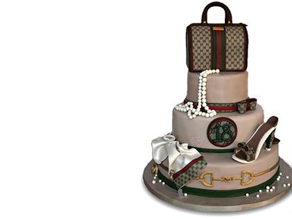 خرید کیک تولد در اصفهان - کیک تولد زنانه گوچی | کیک آف