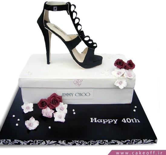 کیک زنانه کفش جیر