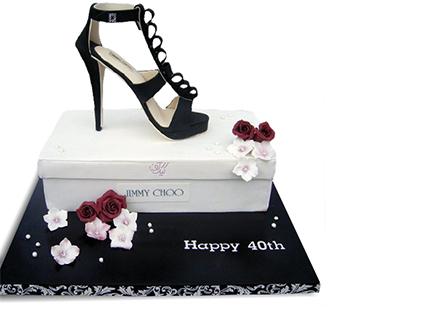 خرید اینترنتی کیک - کیک زنانه کفش جیر | کیک آف