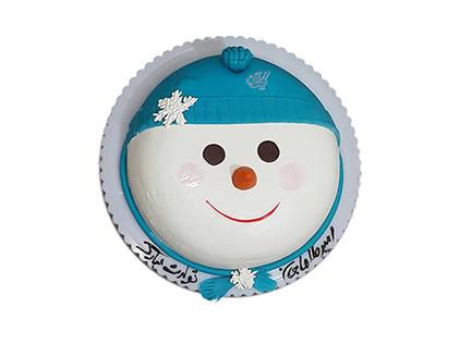 خرید کیک اینترنتی - کیک آدم برفی ناقلا | کیک آف