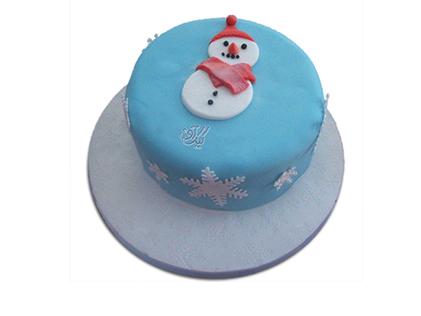 سفارش کیک تولد کودک - کیک آدم برفی یخی | کیک آف