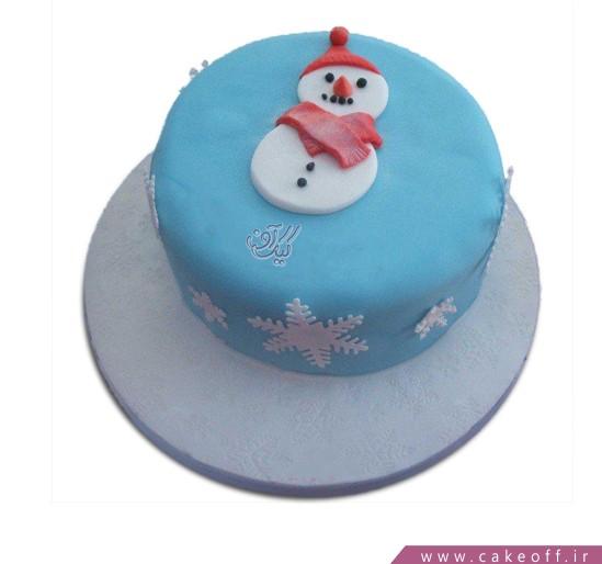 کیک آدم برفی یخی